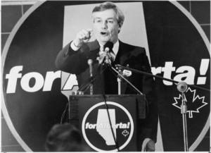 Campaign speech in 1982