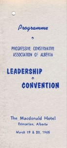 PCAA Leadership Convention 1965 Programme